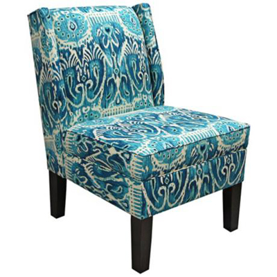 Alessandra Teal Wingback Accent Chair Everything Turquoise