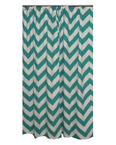 Chevron Shower Curtains elisabeth michael chevron shower curtain | everything turquoise