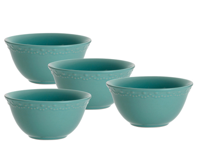 Paula Deen Whitaker Aqua 6-inch Cereal Bowls (Set of 4)  sc 1 st  Everything Turquoise & Dinnerware | Everything Turquoise | Page 13