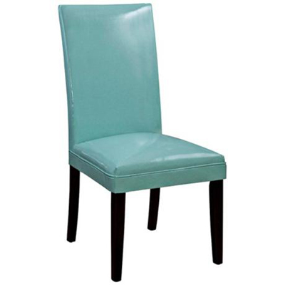 Turquoise bonded leather classic parson chair everything turquoise - Turquoise upholstered dining chair ...