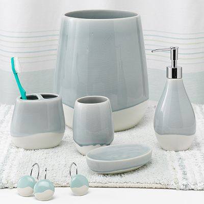 Aqua spa bath accessories everything turquoise for Aqua bath accessories