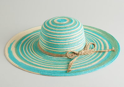 Multicolored Woven Sun Hat