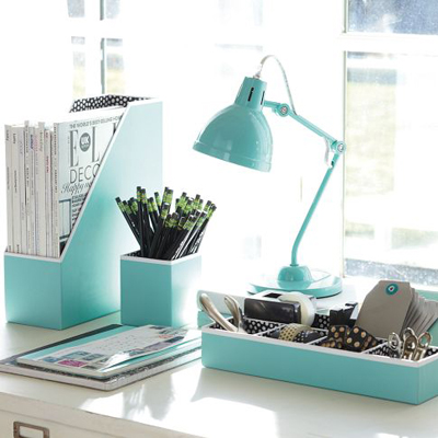 Preppy Paper Desk Accessories Set