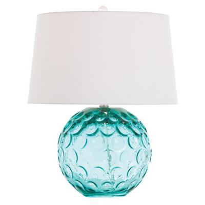 Arteriors Caprice Aqua Glass Lamp
