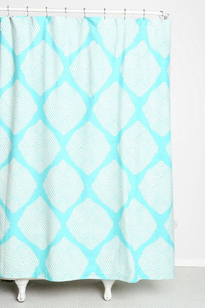 Diamond Tile Shower Curtain Everything Turquoise