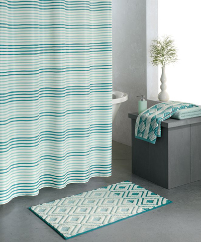 Shower curtains everything turquoise page 4 for Aqua mosaic bathroom accessories