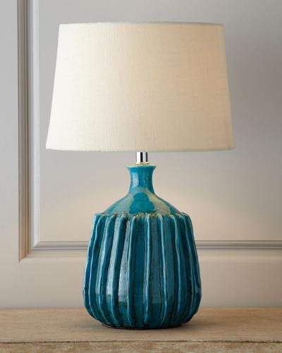 blue ceramic lampps
