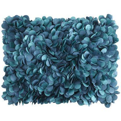 teal petals pillow