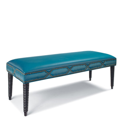 Cameron Leather Bench Everything Turquoise