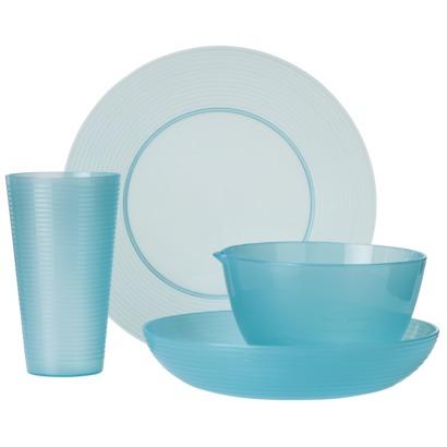 Turquoise 16-Piece Dinnerware Set  sc 1 st  Everything Turquoise & Turquoise 16-Piece Plastic Dinnerware Set | Everything Turquoise