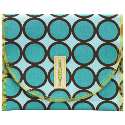 Turquoise Ring Dots Sandwich Sack