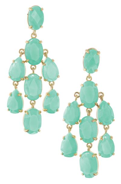 Aqua Stone Gold Chandelier Earrings – Aqua Chandelier Earrings