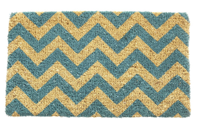 Blue Chevron Doormat
