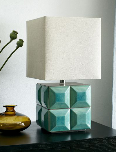 Crackle Teal Tiled Table Lamp Everything Turquoise