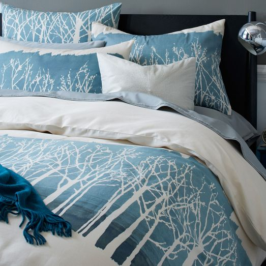 Winter Woods Duvet Cover Everything Turquoise