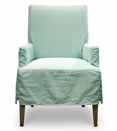 Seaglass Slipcovered Dining Chair