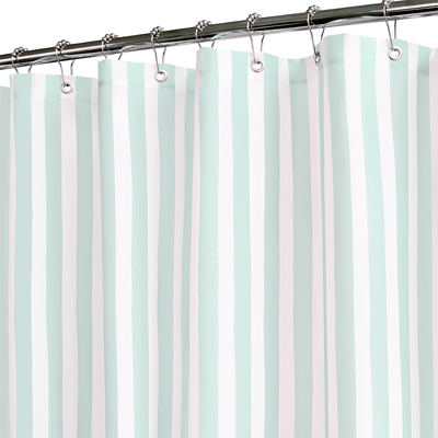 Tranquil Stripe Seaglass And White Shower Curtain Everything Turquoise