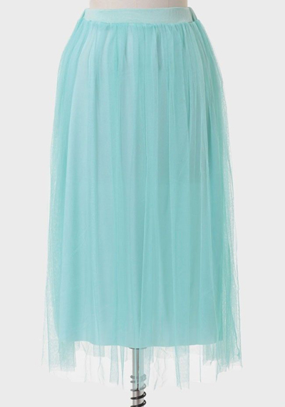 Water Nymph Tulle Midi Skirt | Everything Turquoise