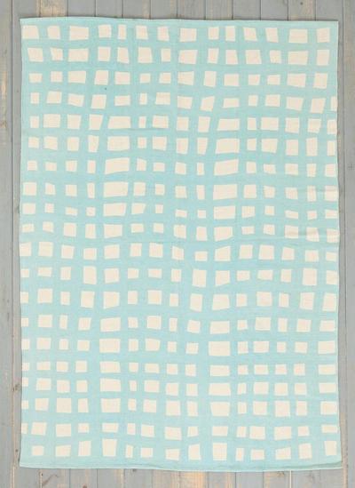 Wavy Grid Rug