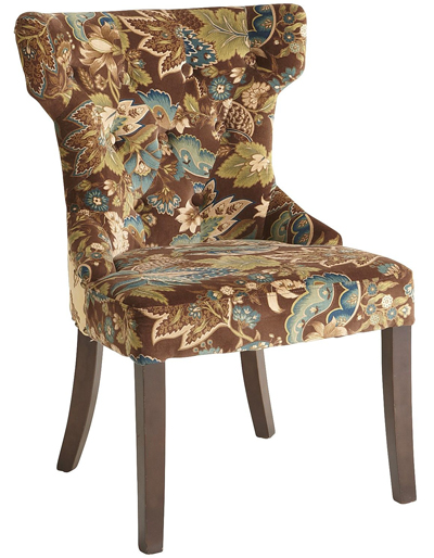 Peacock Floral Hourglass Dining Chair