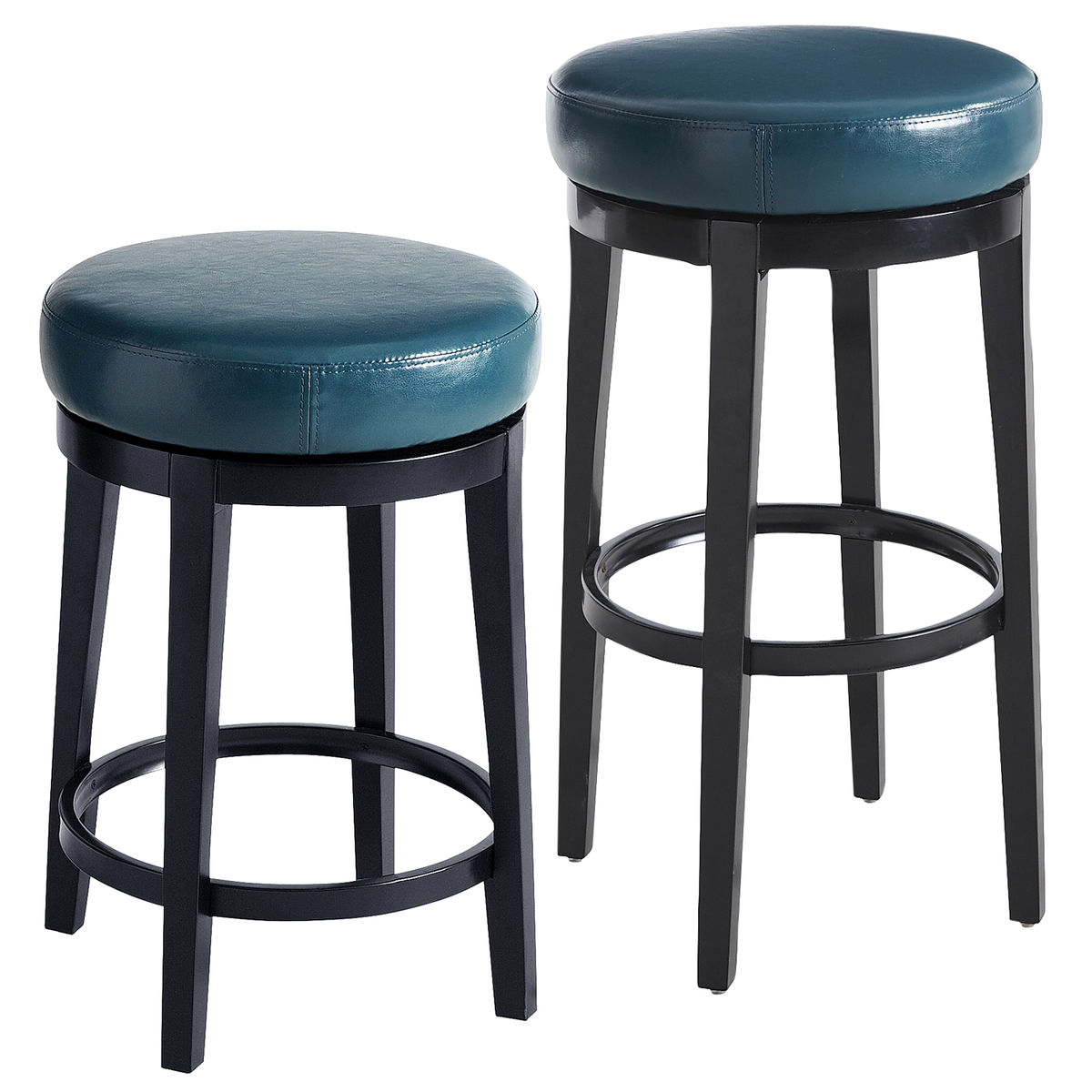 Stratmoor Teal Swivel Bar & Counter Stool