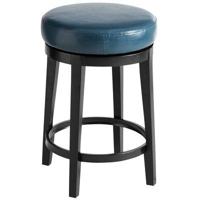 Stratmoor teal swivel counterstool everything turquoiseeverything turquoise - Teal blue bar stools ...