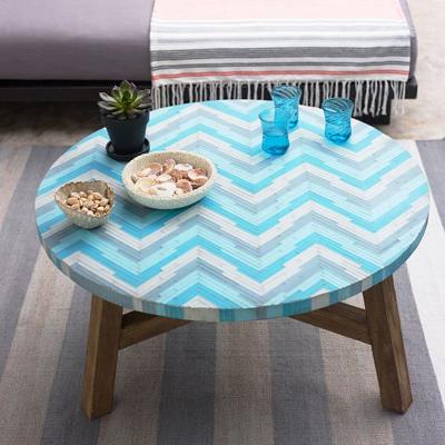 Aqua Gl Mosaic Tiled Coffee Table