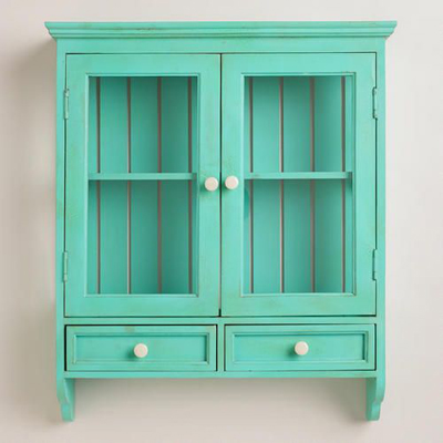 Superieur Aqua Maggie Wall Cabinet