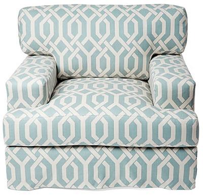 Superieur Blue Littlefield Chair