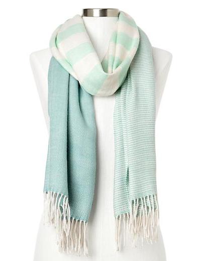 Cozy Colorblock-Stripe Scarf