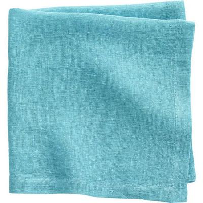 uno aqua linen napkin everything turquoise