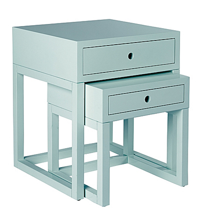 Webster Aqua Nesting Tables Everything Turquoise - Nesting table with drawer