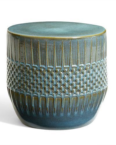 Wonderful Ceramic Ethnic Accent Table