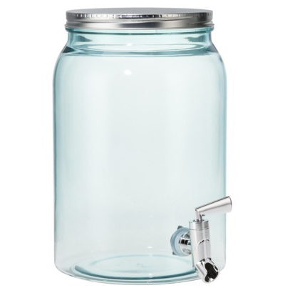 Embossed Mason Jar with Metal Lid