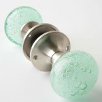 Aqua blue bubbles glass knob everything turquoise for Glass globe doorknob