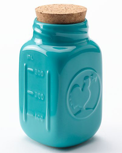 Turquoise Decorative Mason Jar