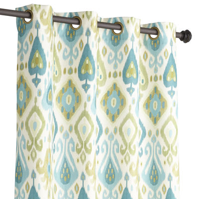 Blue U0026 Green Ikat Curtain