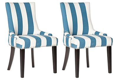 Blue Lester Dining Chairs