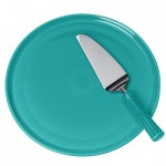 Fiesta Turquoise Cake Plate and Server