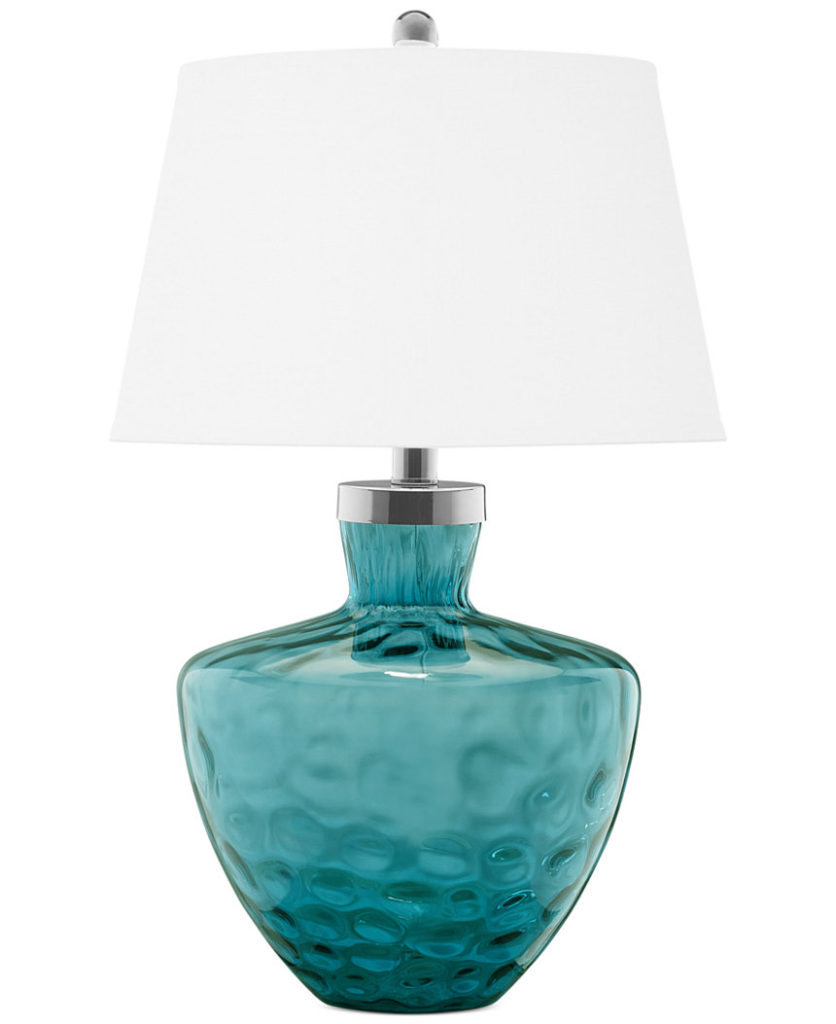 Pacific Coast Turquoise Sea Glass Table Lamp