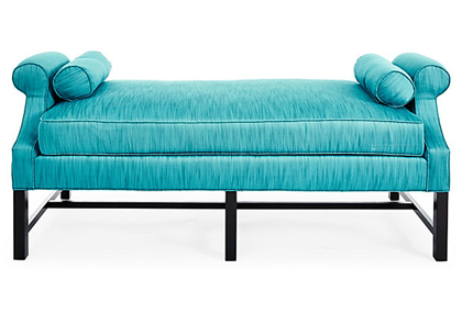 """Anne 70"""" Turquoise Daybed"""