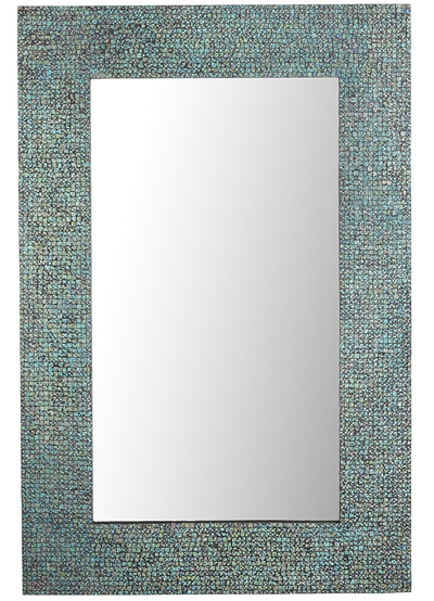 Azure Mosaic Mirror