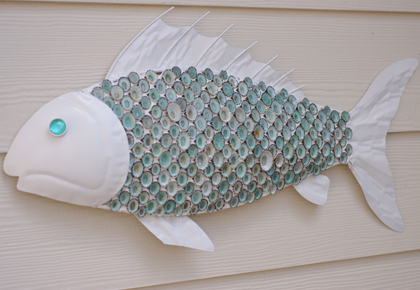 Charming Metal Fish Wall Decor