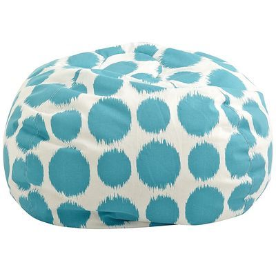 Teal Polka Dot Bean Bag Everything Turquoise