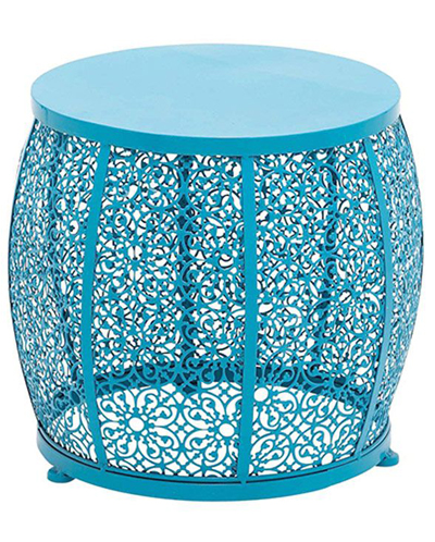 Blue Metal Accent Table Everything Turquoise