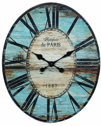 Antiquite De Paris Wood Oval Wall Clock