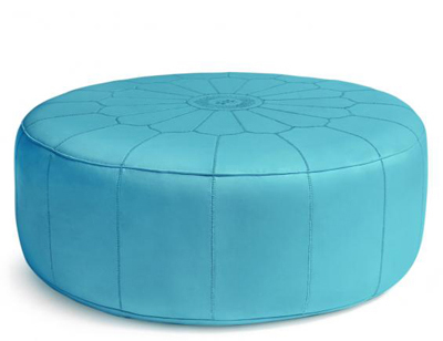 Jonathan Adler Giant Leather Moroccan Pouf Everything Turquoise Fascinating Turquoise Moroccan Pouf