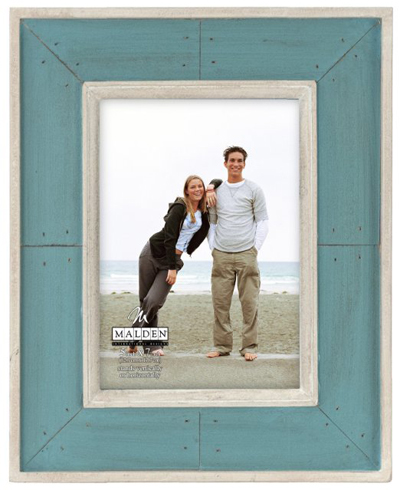 Sun Washed Woods Turquoise Distressed Picture Frame