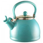 Turquoise Whistling Tea Kettle