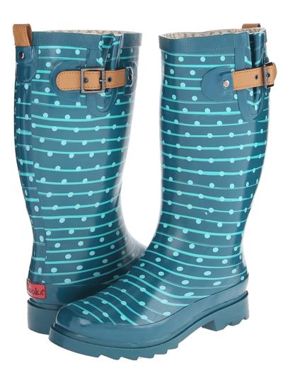 Chooka Striped Dot Rain Boot